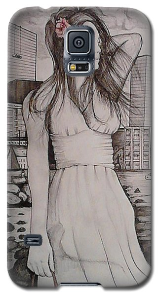 Galaxy S5 Case featuring the painting Marissa by Richie Montgomery
