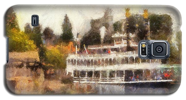 Mark Twain Riverboat Frontierland Disneyland Photo Art 02 Galaxy S5 Case by Thomas Woolworth