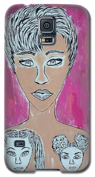 Mother And Daughters Painting And Drawing Galaxy S5 Case