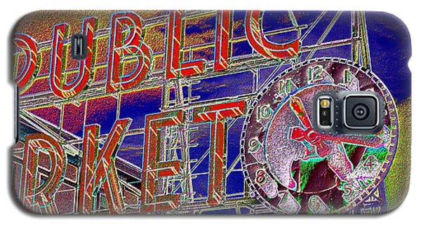 Market Clock 1 Galaxy S5 Case by Tim Allen