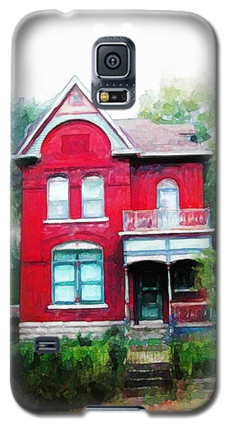 Galaxy S5 Case featuring the painting Market Street by Dave Luebbert