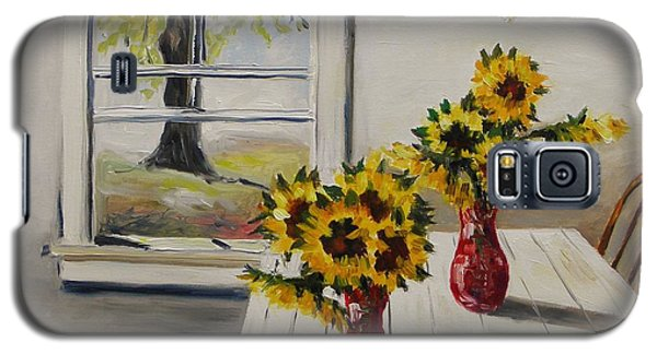 Market Sunflowers Galaxy S5 Case by John Williams
