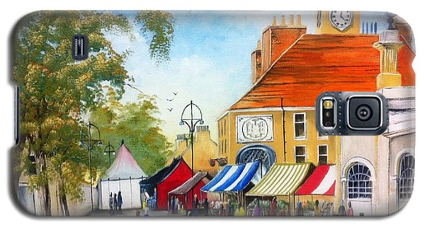Galaxy S5 Case featuring the painting Markets On High Street by Helen Syron