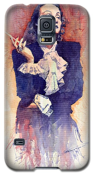 Portret Galaxy S5 Case - Marlen Dietrich  by Yuriy Shevchuk