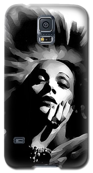 Galaxy S5 Case featuring the painting Marlene Dietrich by Maciek Froncisz