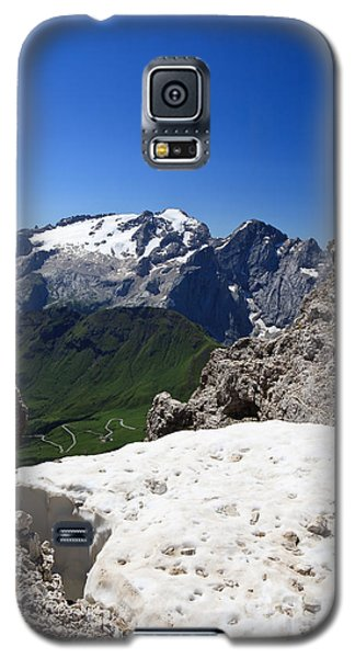 Galaxy S5 Case featuring the photograph Marmolada From Saas Pordoi by Antonio Scarpi