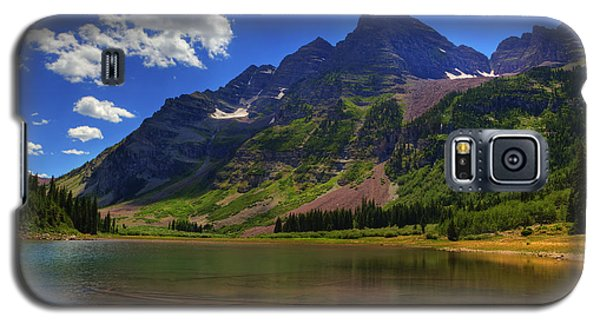 Galaxy S5 Case featuring the photograph Maroon Bells by Alan Vance Ley