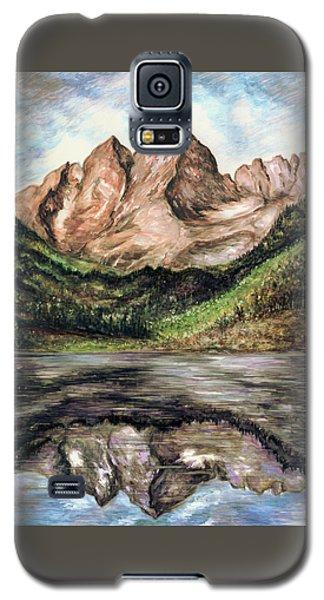 Maroon Bells Colorado - Landscape Painting Galaxy S5 Case