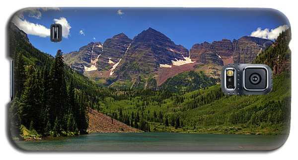 Galaxy S5 Case featuring the photograph Maroon Bells From Maroon Lake by Alan Vance Ley