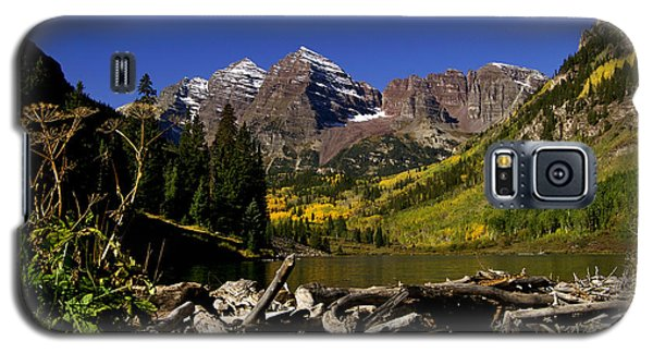 Galaxy S5 Case featuring the photograph Maroon Bells by Jeremy Rhoades