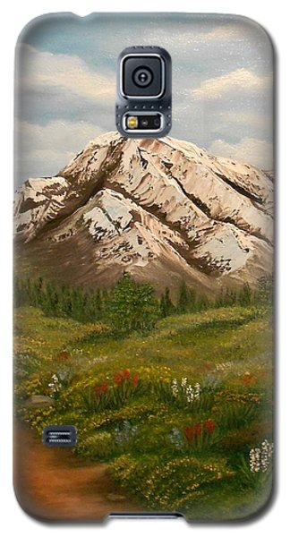 Galaxy S5 Case featuring the painting Maroon Trail Splendor by Sheri Keith