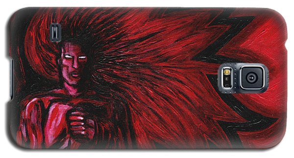 Galaxy S5 Case featuring the painting Mars Rising by Roz Abellera Art