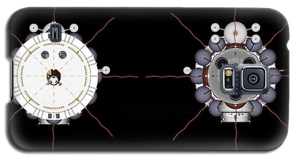 Mars Spaceship Hermes1 Front And Rear Galaxy S5 Case