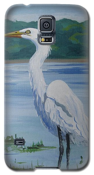 Marsh Land Egret Galaxy S5 Case