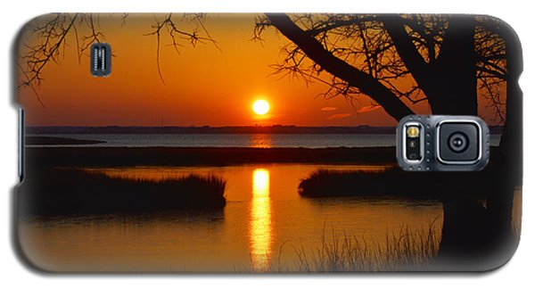 Galaxy S5 Case featuring the photograph Ocean City Sunset At Old Landing Road by Bill Swartwout