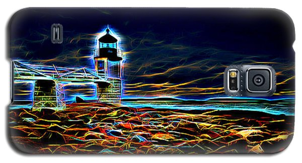 Marshall Point Lighthouse Neon Galaxy S5 Case