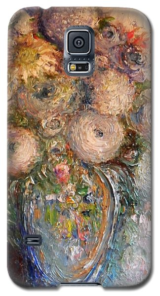 Galaxy S5 Case featuring the painting Marshmallow Flowers by Laurie L