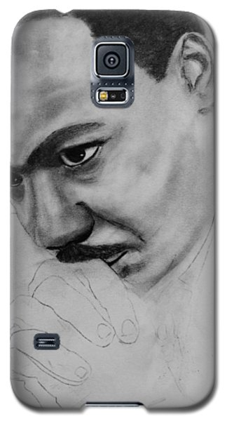 Galaxy S5 Case featuring the drawing Martin Luther King Jr. Mlk Jr. by Michael Cross