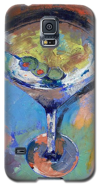 Martini Oil Painting Galaxy S5 Case by Michael Creese