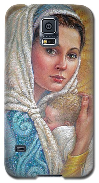 Galaxy S5 Case featuring the pastel Mary Did You Know    by Jane Bucci