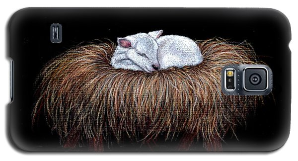 Galaxy S5 Case featuring the painting Mary Had A Little Lamb by Dee Dee  Whittle