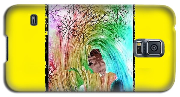 Galaxy S5 Case featuring the digital art Mary In The Field by Ann Calvo