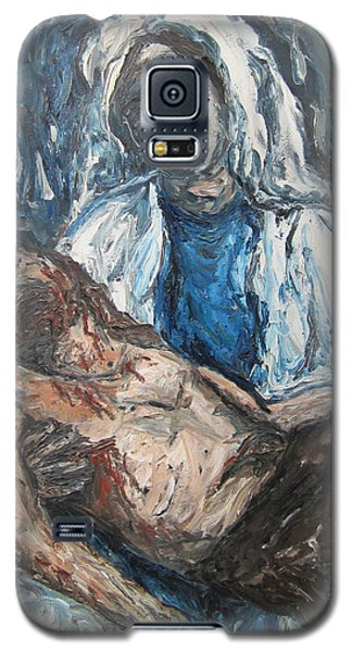 Galaxy S5 Case featuring the painting Mary With Jesus by Cheryl Pettigrew