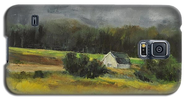 Galaxy S5 Case featuring the painting Maryland Barn by Lindsay Frost