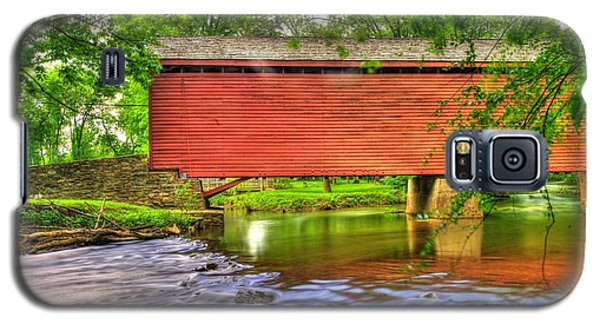 Maryland Country Roads - Peaceful Crossing - Loys Station Covered Bridge 3a Spring Galaxy S5 Case