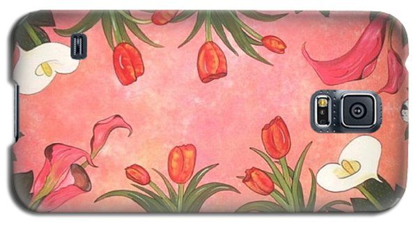 Galaxy S5 Case featuring the painting Marys Garden by Cindy Micklos