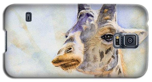Galaxy S5 Case featuring the painting Masai Giraffe by Bonnie Rinier