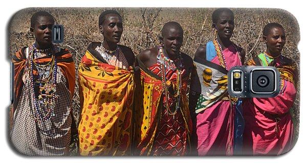 Galaxy S5 Case featuring the photograph Masai Women Chorus by Tom Wurl