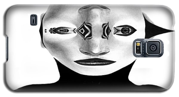 Galaxy S5 Case featuring the painting Mask Black And White by Rafael Salazar