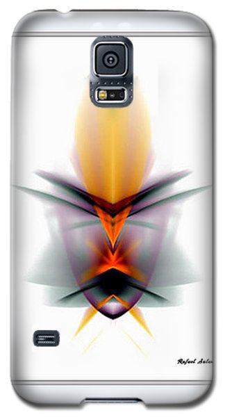 Galaxy S5 Case featuring the mixed media Mask by Rafael Salazar