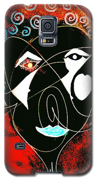Masked Abstract Galaxy S5 Case by Carolyn Repka