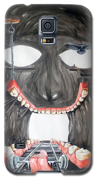 Galaxy S5 Case featuring the painting Masquera Carcaza  by Lazaro Hurtado