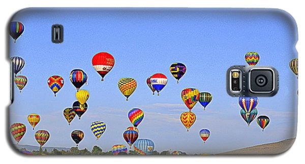 Galaxy S5 Case featuring the photograph Mass Ascension by AJ  Schibig