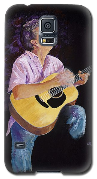 Galaxy S5 Case featuring the painting Master In The Spotlight by Margaret Bobb