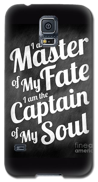 Master Of My Fate - Chalkboard Style Galaxy S5 Case