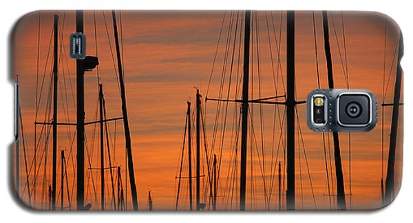 Masts At Sunset Galaxy S5 Case