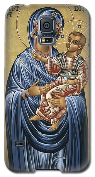 Galaxy S5 Case featuring the painting Mater Domini 070 by William Hart McNichols