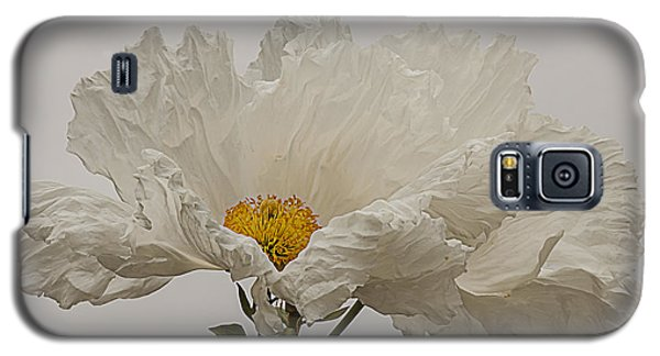 Matilija Poppy White On White Galaxy S5 Case