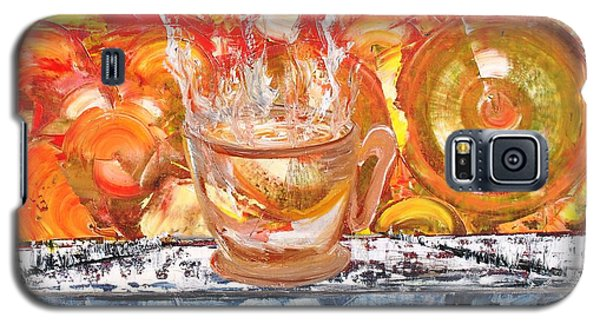 Galaxy S5 Case featuring the painting Matinal by Evelina Popilian