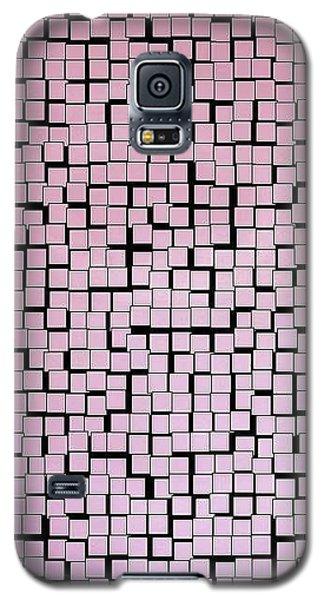 Galaxy S5 Case featuring the digital art Matrix Pink by Phoenix De Vries