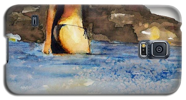 Galaxy S5 Case featuring the painting Niue by Ed  Heaton