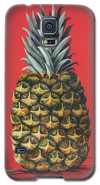 Galaxy S5 Case featuring the painting Maui Pineapple 2 by Darice Machel McGuire