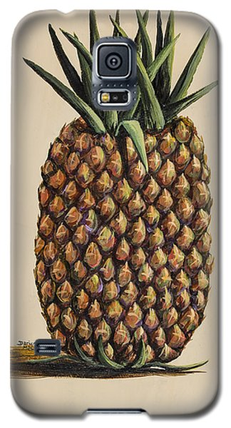 Galaxy S5 Case featuring the painting Maui Pineapple 3 by Darice Machel McGuire