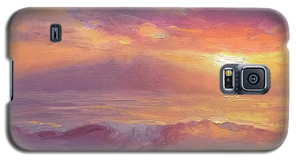 Coastal Hawaiian Beach Sunset Landscape And Ocean Seascape Galaxy S5 Case