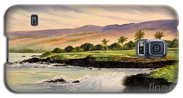 Mauna Kea Golf Course Hawaii Hole 3 Galaxy S5 Case by Bill Holkham