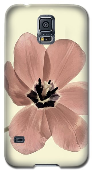 Mauve Tulip Transparency Galaxy S5 Case